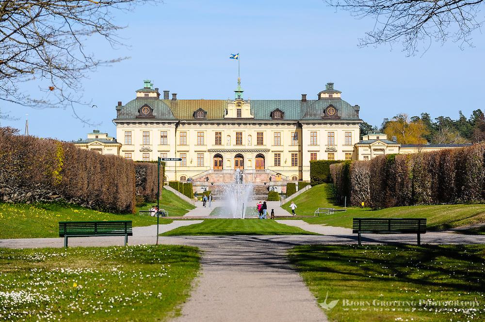 Sweden, Ekerö. The Drottningholm Palace (Drottningholms slott).