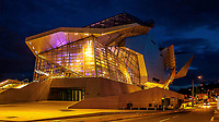 Confluence museum by night