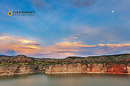 Stormy clouds over the Bighorn River in the Bighorn National Recreation Area, Montana, USA