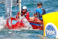 , Travemünder Woche 20. - 29.07.2018, Flying Junior - GER 312 - Dizzy Lizzy - John ABERT - Eileen ABERT - Yacht Club St.Peter Ording e. V