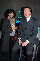PILAR BOXFORD and LEONARD THOMPSON brand manager of Panerai at a party hosted by Panerai and the Baglioni Hotel, 60 Hyde Park Gate, London on 6th December 2004.<br /><br />NON EXCLUSIVE - WORLD RIGHTS