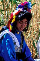 Maroc - Haut Atlas - Vallée du Dadès - El Kelaâ M'Gouna - Fête des Roses - Femme Bérbere