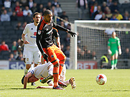 Leon Clarke of Sheffield Utd in action during the English League One match at  Stadium MK, Milton Keynes. Picture date: April 22nd 2017. Pic credit should read: Simon Bellis/Sportimage