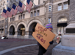 """December 10, 2016 - Washington, DC, USA - ADELINE (ADDIE) WORSLEY, 5 years old, runs around statue at hotel.  Children's Rally for Kindness takes place at Trump International Hotel in Washington DC on December 10, 2016 organized by the Takoma Parents Action Coalition.  According to their FaceBook page, it was a call to President-elect Donald Trump: ''to remember these lessons as he prepares to take office and implement policies that will affect the lives of children and families across our diverse nation.''.''All over the world, across cultures and countries, children learn the same basic lessons: .Ã'be kind,Ã"""" .Ã'tell the truth,Ã"""" .Ã'be fair,Ã"""" .Ã'respect everyone,Ã"""" .Ã'treat others the way you want to be treated,Ã"""" .Ã'donÃ•t touch others if they donÃ•t want to be touched. (Credit Image: © Carol Guzy via ZUMA Wire)"""