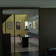Paris, France, 2004: View from Library  to exhibition room, La Roche house (1923) at 8-10 square Doctor Blanche - Le Corbusier arch - Photographs by Alejandro Sala (Historical archivi AS)