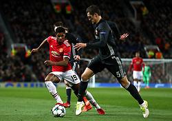 Manchester United's Marcus Rashford (left) and CSKA Moscow's Viktor Vasin battle for the ball