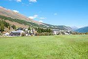 Zuoz on the Inn river, Maloja Region, Graubünden, Switzerland