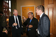 Lord Rothschild, Alan Yentob and Nat Rothschild, Party for Jean Pigozzi hosted by Ivor Braka to thank him for the loan exhibition 'Popular Painting' from Kinshasa'  at Tate Modern. Cadogan sq. London. 29 May 2007.  -DO NOT ARCHIVE-© Copyright Photograph by Dafydd Jones. 248 Clapham Rd. London SW9 0PZ. Tel 0207 820 0771. www.dafjones.com.