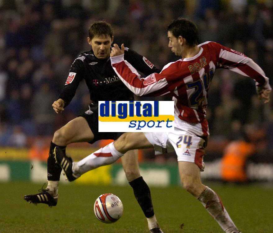 Photo: Matt Bright/Sportsbeat Images.<br /> Stoke City v West Bromwich Albion. Coca Cola Championship. 22/12/2007.<br /> Zoltán Gera of West Bromwich Albion & Rory Delap of Stoke