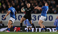 Rugby Union - 2017 Pacifica Challenge - New Zealand v Samoa<br /> <br /> Sonny Bill Williams of The All Blacks holds off Kieron Fonotia of Samoa at Eden Park Stadium, Auckland.<br /> <br /> <br /> COLORSPORT/LYNNE CAMERON
