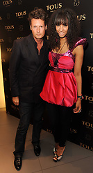 PERCY PARKER and JOY VIELI at a party to announce Kylie Minogue as The Face of Tous held at their store 260 Regent Street, London on 8th June 2010.