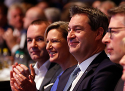 19.01.2019, Kleine Olympiahalle, Muenchen, GER, CSU Parteitag in München, im Bild von links: Manfred Weber, Dr. Angelika Niebler, Markus Söder // during the CSU party congress at the Kleine Olympiahalle in Muenchen, Germany on 2019/01/19. EXPA Pictures © 2019, PhotoCredit: EXPA/ SM<br /> <br /> *****ATTENTION - OUT of GER*****