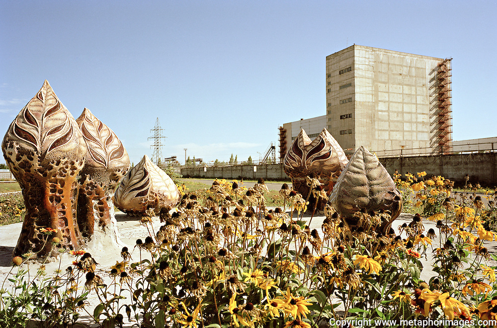 Sculpture, 2003, Ukraine.<br /> The city of Pripyat lies abandoned next to the Chernobyl nuclear power station. In April 26, 1986, the worst nuclear accident the world has seen contaminated large areas of Europe with radioactive fallout. Vast areas of land around the reactor make up the Chernobyl Exclusion Zone. The area is now an increasingly popular tourist destination. <br /> Wastelands is a journey into abandoned and transient spaces in Australia and Europe. Over a number of years I've travelled with a large format camera to record some of the unusual ways that buildings decline, and the more unusual ways that space is reordered. <br /> <br /> A common practice is to transform abandoned industrial sites into modern centres of consumption. Old industrial centres often find new life as shopping centres. But family fun parks in abandoned nuclear power stations and the prospect of a European wilderness in Chernobyl reveal that landscape is never a finished project, nor what we always expect.<br /> <br /> Large format photography has had a long association with architecture and landscape. It expands detail and corrects perspective, often recording more than we can actually see, compelling us to look longer.