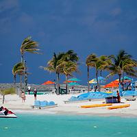 Caribbean, Bahamas, Castaway Cay. Beach and water Activities at Castaway Cay.