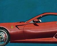 Usually Jan Keteleer makes paintings of classic cars from the last century, but for a Ferrari 599 GTB Fiorano 2006 he likes to make an exception.<br />