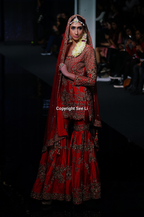 Maiyan Bridal showcases latest collection at the National Asian Wedding Show on 11th Novmber 2017, Olympia London.