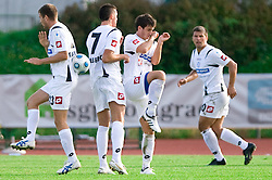 Players of Koper at the football match Interblock vs NK Luka Koper in 12th Round of Prva liga 2009 - 2010,  on October 03, 2009, in ZSD Ljubljana, Ljubljana, Slovenia. Luka Koper won 1:0.  (Photo by Vid Ponikvar / Sportida)