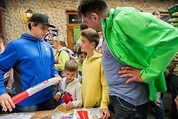 Luka Gracnar of Slovenia of Slovenian Ice Hockey National Team at meeting with their supporters at day off during 2015 IIHF World Championship, on May 9, 2015 in Restaurant Zadni Vratka, Stodolni Street, Ostrava, Czech Republic. Photo by Vid Ponikvar / Sportida