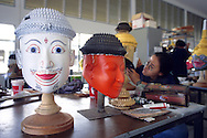 Making traditional masks in the Royal Folks Arts and Crafts Center of Beung Yai