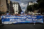 Manifestazione nazionale per i beni comuni e contro le privatizzazioni, Roma 17 maggio 2014.  Christian Mantuano / OneShot