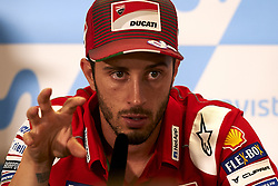 September 22, 2018 - Alcaniz, Teruel, Spain - Andrea Dovizioso (4) of Italy and Ducati Team during press conference after qualifying for the Gran Premio Movistar de Aragon of world championship of MotoGP at Motorland Aragon Circuit on September 22, 2018 in Alcaniz, Spain. (Credit Image: © Jose Breton/NurPhoto/ZUMA Press)