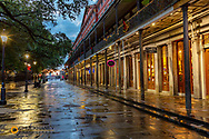 Early morning on St Peter Street in the French Quarter in New Orleans, Louisiana, USA