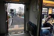 Nederland, Barneveld, 20-2-2007..Zicht op de ingang van het Transferium aan de stationszijde vanuit de trein van Barneveld noord naar Amersfoort..Foto: Flip Franssen/Hollandse Hoogte