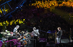 July 4, 2015 - Chicago, Illinois, USA - BILL KREUTZMANN on drums, BOB WEIR on guitar, PHIL LESH on bass and TREY ANASTASIO on guitar during the GRATEFUL DEAD, 'Fare Thee Well' show, Soldier Field, Chicago, Illinois, Saturday July 4, 2015. (Credit Image: © Bryan Smith/ZUMA Wire/ZUMAPRESS.com)