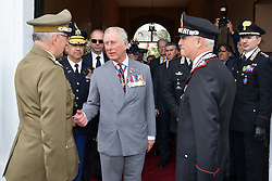 April 1, 2017 - Vicenza, Veneto, Italy - Charles, Prince of Wales meets Gen. Claudio Graziano, Italian Army Chief of Staff, left, during a visit to the Center of Excellence for Stability Police Units April 1, 2017 in Vicenza, Italy. The center is a train the trainer school developed by the Carabinieri for peace-keeping missions around the world. (Credit Image: © Paolo Bovo/Planet Pix via ZUMA Wire)