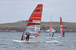 Day 1 of the RYA Youth National Championships 2013 held at Largs Sailing Club, Scotland from the 31st March - 5th April. ..956, Saskia SILLS, Roadford\..For Further Information Contact..Matt Carter.Racing Communications Officer.Royal Yachting Association.M: 07769 505203.E: matt.carter@rya.org.uk ..Image Credit Marc Turner / RYA..