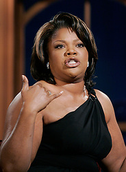 """Actress Mo'Nique during a segment of the """"Late Late Show with Craig Ferguson"""" at CBS Television City in Los Angeles, California on November 2, 2009."""