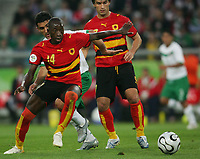 v.l.  Mendonca, Zinha Mexiko dahinter, Figueiredo<br /> <br /> Fussball WM 2006 Mexiko - Angola<br /> Mexico - Angola<br /> Norway only
