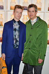 Left to right, SAM BOMPAS and HARRY PARR at the launch of hidden bar 'Blind Spot' at St.Martin's Lane Hotel, St.Martin's Lane, London on 6th May 2015.
