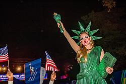 02-11-2018 USA: NYC Marathon We Run 2 Change Diabetes day 1, New York<br /> The opening ceremony / Miss Liberty