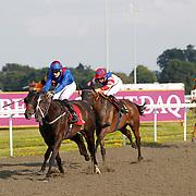 Shavansky and P Millman winning the 6.00 race