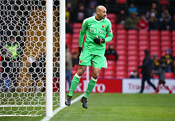 January 6, 2018 - Watford, England, United Kingdom - Watford's Heurelho Gomes..during FA Cup 3rd Round match between Watford  and Bristol  City at Vicarage Road Stadium, Watford ,  England 06 Jan 2018. (Credit Image: © Kieran Galvin/NurPhoto via ZUMA Press)