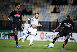 Mitja Lotric of NS Mura during football match between NS Mura and Rennes (FRA) in group stage of UEFA Europa Conference League 2021/22, on 20 of October, 2021 in Ljudski Vrt, Maribor, Slovenia. Photo by Blaž Weindorfer / Sportida