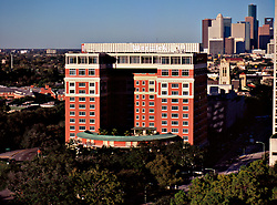 Stock photo of the old Warwick Hotel in Houston, Texas
