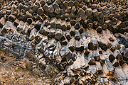 Hexagonal cross-sections of basalt columns. Hike Whitmore Trail (about 3 miles round trip with 920 feet gain) from Colorado River Mile 187.9. Day 14 of 16 days rafting 226 miles down the Colorado River in Grand Canyon National Park, Arizona, USA.
