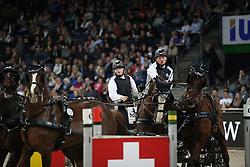 Duen Rainer, (GER)<br /> FEI World Cup Driving<br /> DB Schenker German Master<br /> Stuttgart - German Masters 2015<br /> © Hippo Foto - Stefan Lafrentz