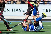 UTRECHT -  Pepijn Luijkx (Kampong) tijdens   de finale van de play-offs om de landtitel tussen de heren van Kampong en Amsterdam (3-1). COPYRIGHT  KOEN SUYK