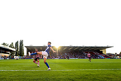 Morgan Fox of Sheffield Wednesday controls the ball as the sun sets over Sincil Bank home of Lincoln City - Mandatory by-line: Robbie Stephenson/JMP - 13/07/2018 - FOOTBALL - Sincil Bank Stadium - Lincoln, England - Lincoln City v Sheffield Wednesday - Pre-season friendly