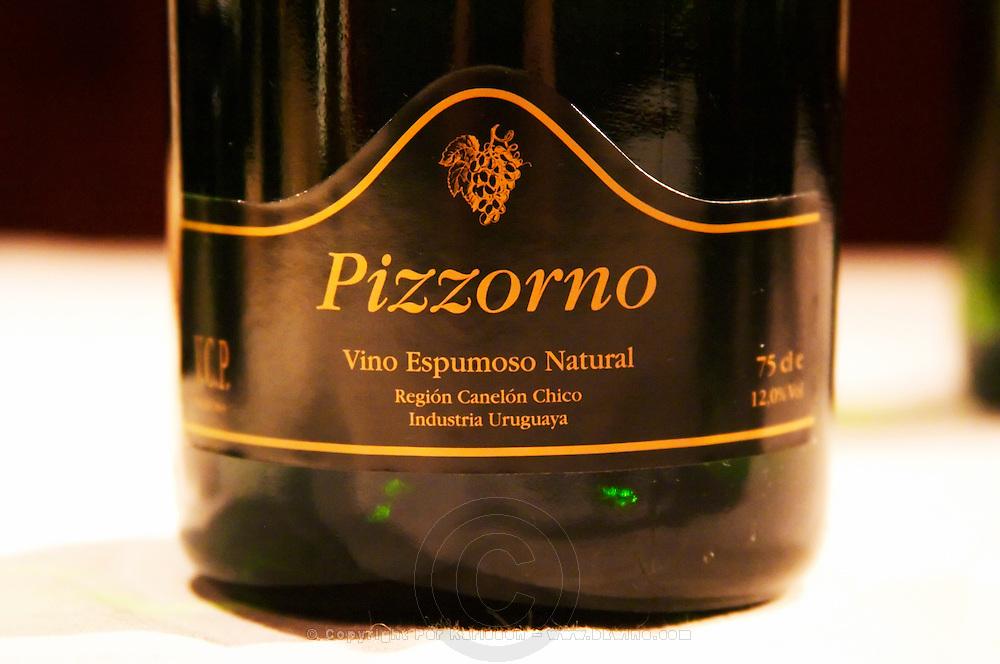 Pizzorno Vino Espumoso Natural, sparkling wine from Canelones Canelon Chico Uruguay Montevideo, Uruguay, South America Uruguay wine production institute Instituto Nacional de Vitivinicultura INAVI