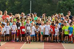 Family Fun Run night at Falmouth High School