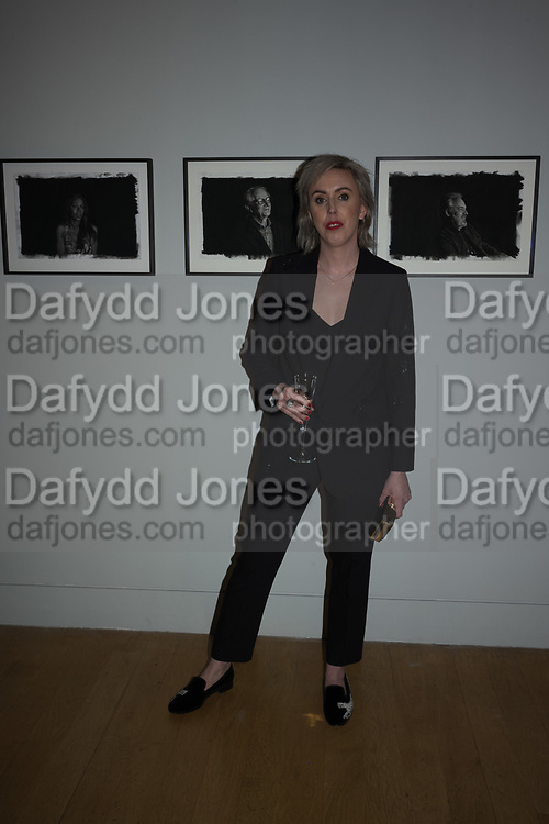 NINA MAE FOWLER, opening party for the unveiling Nina Mae Fowler's new commission of portraits of British Film Directors, National Portrait gallery, London, The event  organised by The Cob Gallery, London 11 April 2019