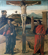 The Crucifixion'. Giovanni Bellini (1430-1516) Italian artist.