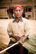 Laos, Luang Nam Tha. Khamu woman from Ban Nam Pick, a village situated in the Luang Nam Tha area.