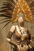 """Chocolate Folly"", by Tony Award-winning costume designer Gregg Barnes, and Pastry Chef Steve Evetts. Chocolate is used in the beads, feathers, and headdress."