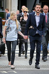 Connie Yates looking stressed and tired as she arrive at the Royal Courts of Justice with Chris Gard on the 3rd day of the new evidence for Charlie treatment - London<br />