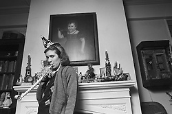 CARRIE FRANCES FISHER (October 21, 1956 - December 27, 2016) the actress best known as Star Wars' Princess Leia Organa, has died after suffering a heart attack. She was 60. Pictured: April 23, 1981 - New York, New York, U.S. - Carrie Fisher at her house in New York (Credit Image: © Lynn Goldsmith via ZUMA Press)
